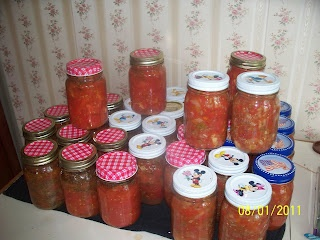 T is for Tomatoes, Particularly Canned Diced Tomatoes with Garlic, Oregano and Basil ~ Good as Grandma's - Food Preserving