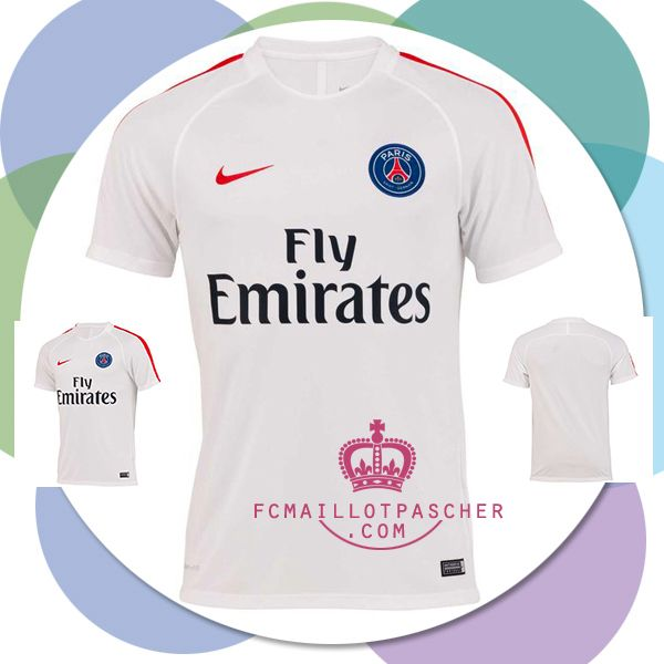 soldes PSG maillot Blanc 2017 Training moin cher