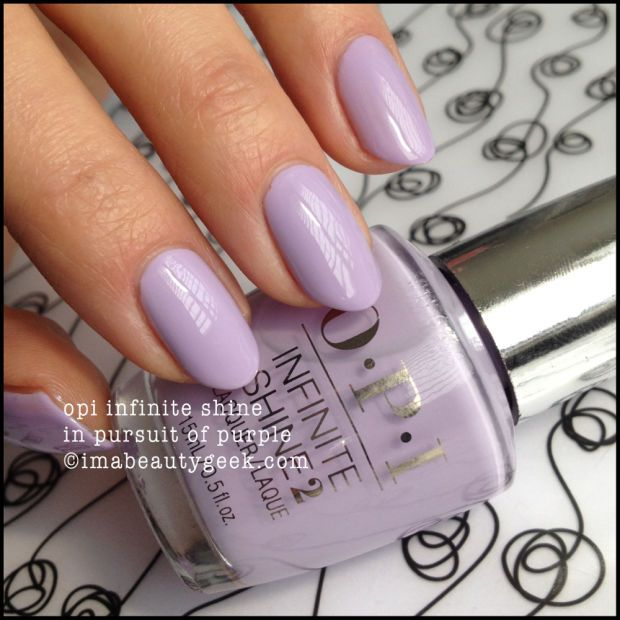OPI Infinite Shine In Pursuit of Purple - for more OPI Infinite Shine swatches, click thru to www.imabeautygeek.com! xoxo!