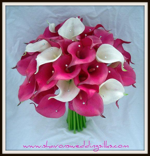 fuchia wedding flowers