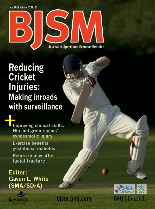 BJSM Volume 47 Issue 10 | July 2013 ~ Reducing cricket injuries: making inroads with surveillance.