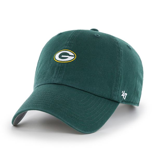 Green Bay Packers Base Runner Clean Up Dark Green 47 Brand Adjustable Hat