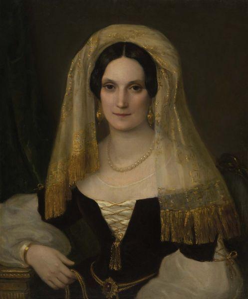 1830s Veiled Olga Naryshkina (Potocki) by ? (location unknown to gogm) Wm