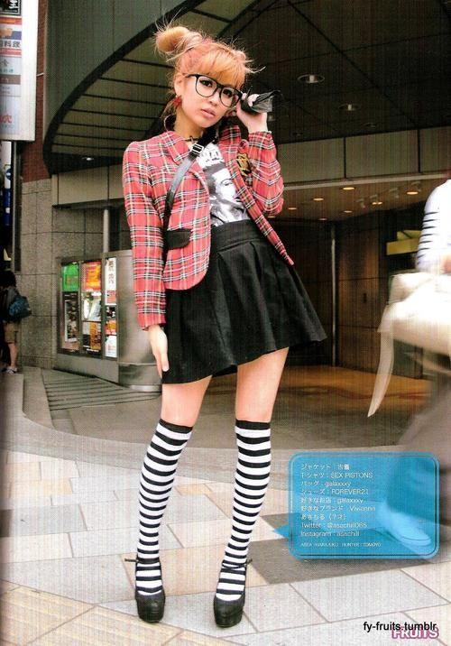 Asachiru in cute Punk fashion