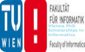 Vienna PhD Scholarships in Informatics for International Applicants in Austria, and applications are submitted till June 2, 2014. Applications are invited for full time PhD scholarships in informatics at The Faculty of Informatics, Vienna University of Technology. The duration of PhD is three years which covers cost of living. - See more at: http://www.scholarshipsbar.com/vienna-phd-scholarships-in-informatics.html#sthash.h6mlD0Bc.dpuf