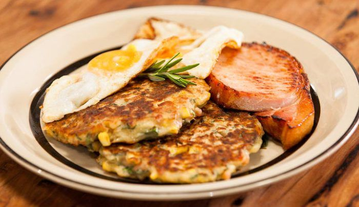 Bacon & Corn Griddle Cakes