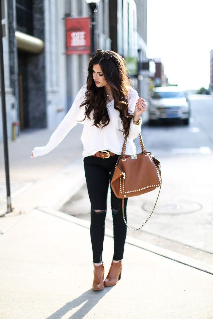 1000+ ideas about Brown Booties on Pinterest | Ankle Boots Knee Boots and Jeans