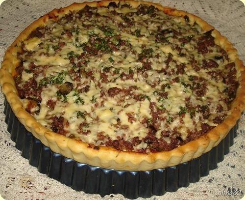Pour passer un bon Tartes, quiches, pizzas avec vos amis, voici une recette pour faire Tarte à la viande hachée.