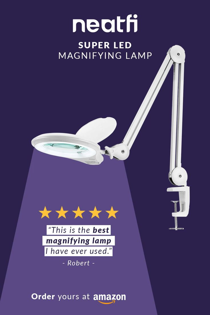 Neatfi Bifocals 1,200 Lumens Super LED Magnifying Lamp ...