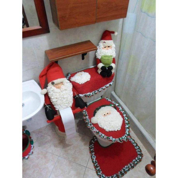 Imagenes De Lenceria De Baño Navidena:Crochet Snowman Toilet Set