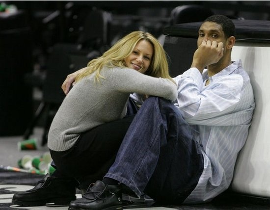 NBA star Tim Duncan and his beautiful wife