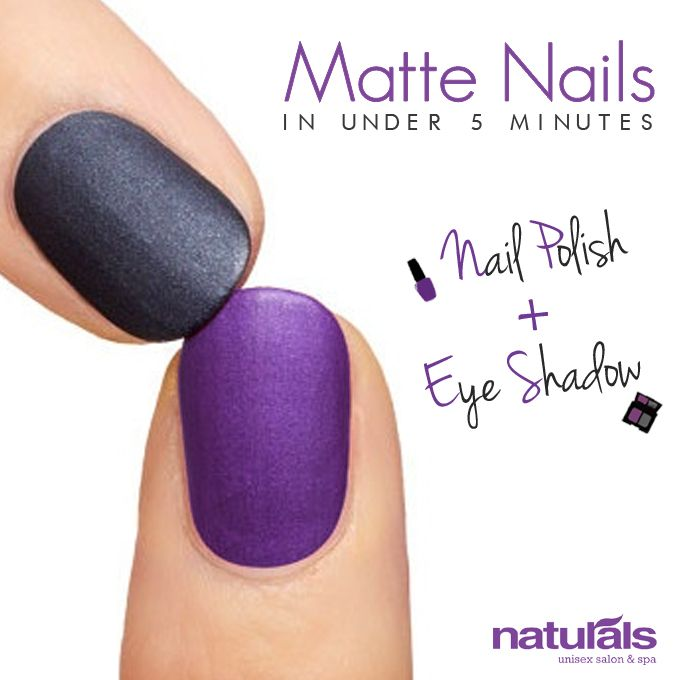 DIY Matte Nails in Under 5 mins  Naturals is India's no.1 Unisex Salon and Spa. FB page: https://www.facebook.com/NaturalsSalon  #diy, #beauty, #nails, #nail art, #matte, #fashion, #style, #digitallyinspired, #creative, #advertising, #media