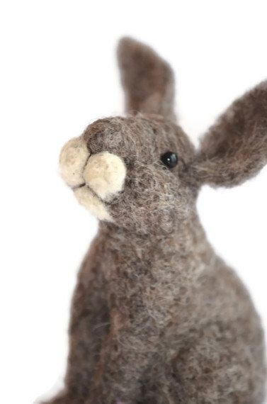 DIY Craft Kit Bunny Rabbit Needle Felting Kit por BearCreekDesign