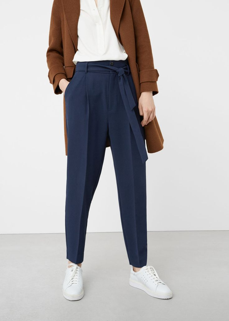 Bow btrouers - Pants for Woman | MANGO USA