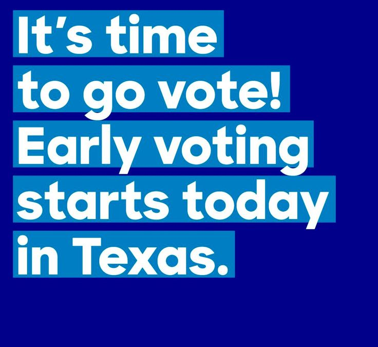 Voting for Hillary is even easier when you do it early! Early voting in Texas is open and runs through February 26—squeeze it in before picking up the kids, while running errands, or on your lunch break.