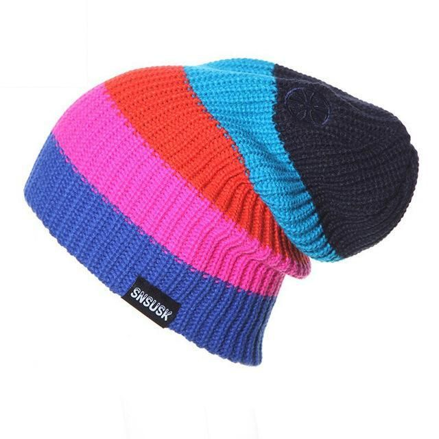 2017 Winter gorros Brand SNSUSK Snowboard Winter Ski hat skating lot caps  skullies and beanies for men women Hip Hop caps ff7a179a1814