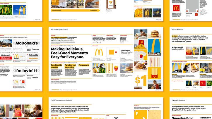 Behind The Mcdonald S Redesign From The Speedee Typeface To The Archery Logo System It S Nice That Visual Identity System Visual Identity Brand Guidelines