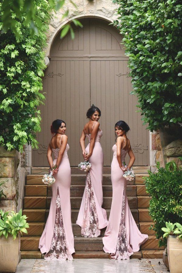 Doll House Bridesmaid Dresses Frozen Sienna Gown With Lace Train / http://www.deerpearlflowers.com/bridesmaid-dresses-from-doll-house-bridesmaids/