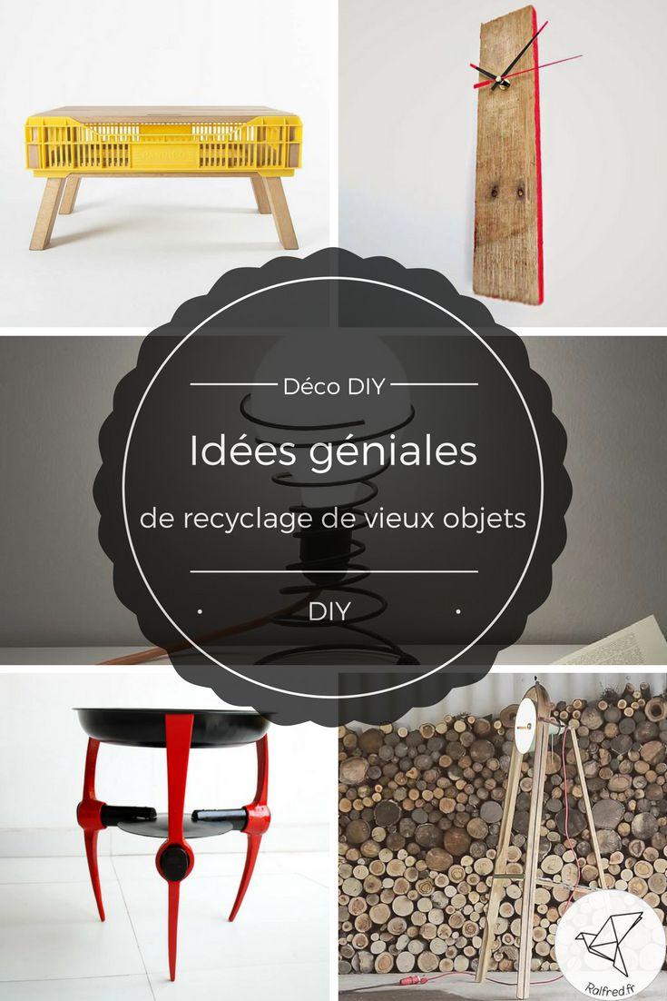 Déco DIY - Idées géniales de recyclage de vieux objets