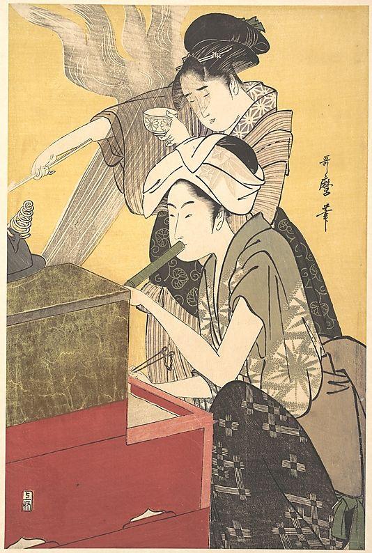 The Kitchen, by Kitagawa Utamaro (1795), at The Metropolitan Museum of Art - metmuseum.org