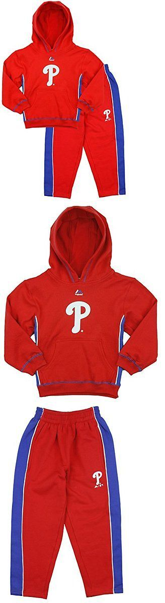 Outfits and Sets 156790: Majestic Mlb Kids Philadelphia Phillies Stadium Wear Fleece Hoodie And Pants Set -> BUY IT NOW ONLY: $31.99 on eBay!