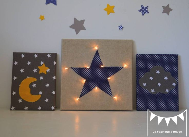 decoration pour enfants sur commande tableau veilleuse e. Black Bedroom Furniture Sets. Home Design Ideas