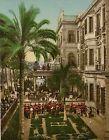 Le Caire. Concert militaire, Shepheard's Hôtel.  PZ vintage photochromie, Egypte