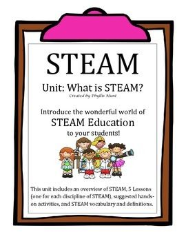 STEM + Arts = STEAMAre you ready to get started in the wonderful world of STEAM education? This STEAM BUNDLE has everything you need to get a STEAM program started in your classroom or at your school.Bundle Includes: Brochure, Unit: What is STEAM?, Unit: What is the Engineer Design Process?, Poster, Bookmarks, Graphic Organizer, Two Bingo Games, and a Song.I also have all of these products listed separately, so be careful not to repeat products.