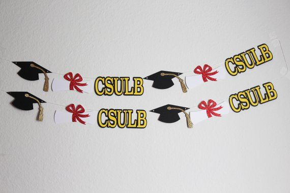 Party Decoration: Graduation Party Banner for High School or College Graduation Parties - School Customizable