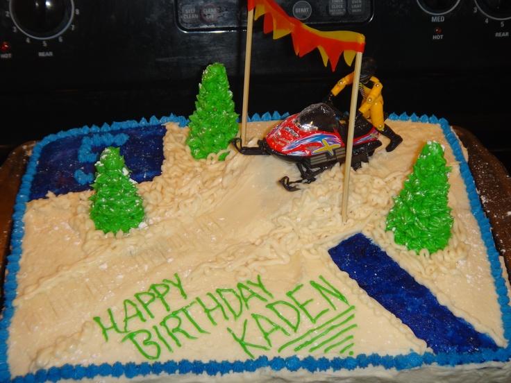Snowmobile Cake Birthday Ideas Pinterest Snowmobiles