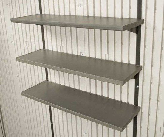 182 best lifetime storage sheds images on pinterest for Attaching shelves to plastic shed