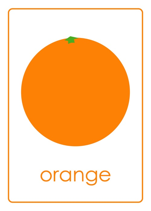 Photo Of Orange >> flashcards // fruits // orange | || LEARNIN' || | Pinterest