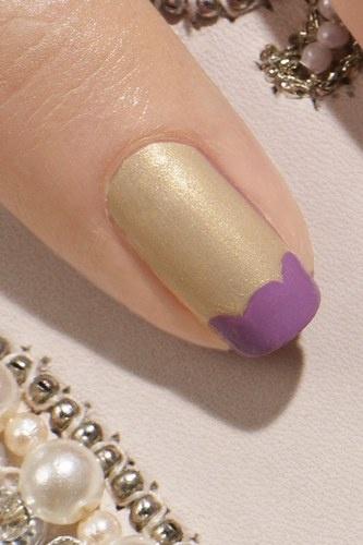 Manicura francesa de colores nail art french manicure - Manicura francesa colores ...