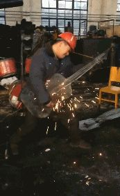 Rock concert performed by an industrial worker