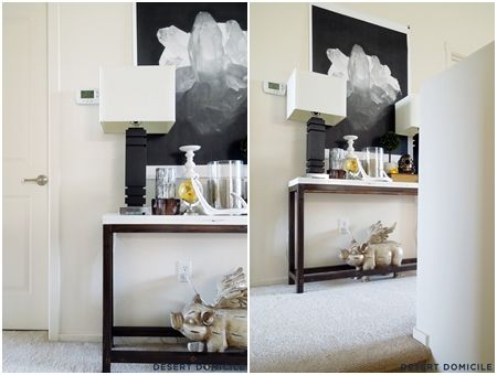 cheap console table this chic console table cost only a little over 18 to make