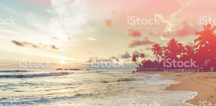 Sunset over Indian ocean royalty-free stock photo