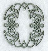 Celtic Knotwork Letter O - 2 Inch