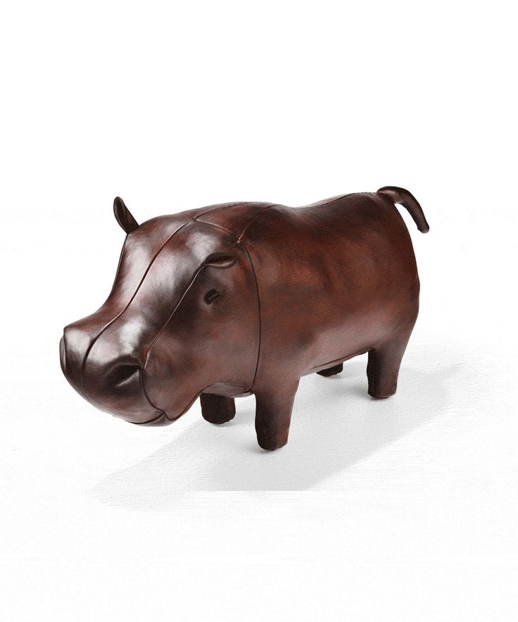 Medium Leather Hippo Footstool, Omersa. Shop more from the Omersa collection at Liberty.co.uk