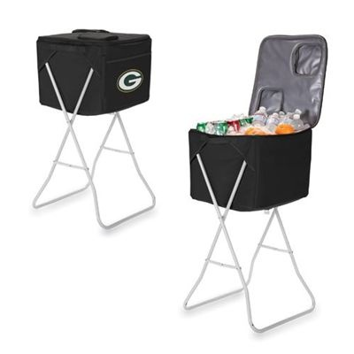 Green Bay Packers Party Cube Cooler (Black)