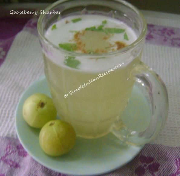 Gooseberry Sharbat - A very tasty and healthy juice made with gooseberries.
