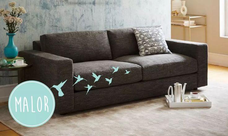 sillón sofa dali 3 tres cuerpos en chenille premium