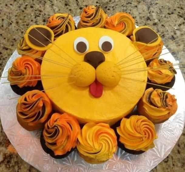 Adorable lion cake!                                                                                                                                                                                 More