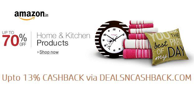 Upto 70% off on home & kitchen @amazonindia + get upto 13% cashback from dealsncashback.com  www.dealsncashback.com/merchants/amazon  #dealsncashback #cashback #deals #onlineshoppingindia #onlineshopping #coupons #deals