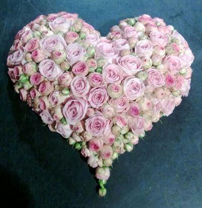 1004. Compact hartvormig, diverse grote van de bloemen