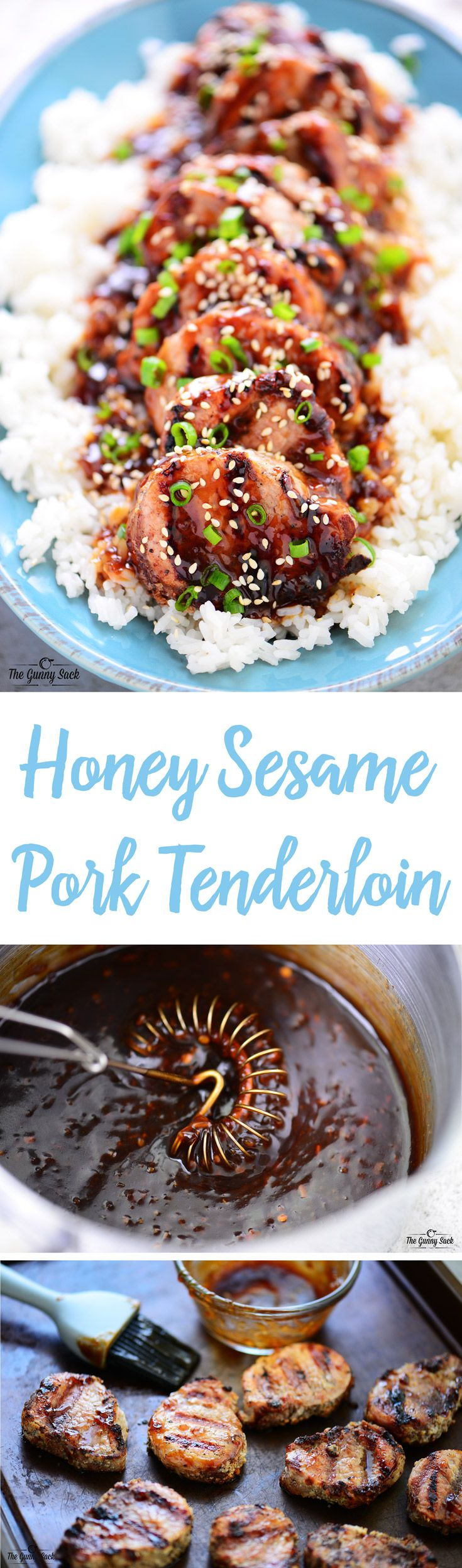 This Honey Sesame Pork Tenderloin is an easy family dinner recipe that's perfect for busy weeknights. The pork is fully cooked in only 8 minutes on the grill!