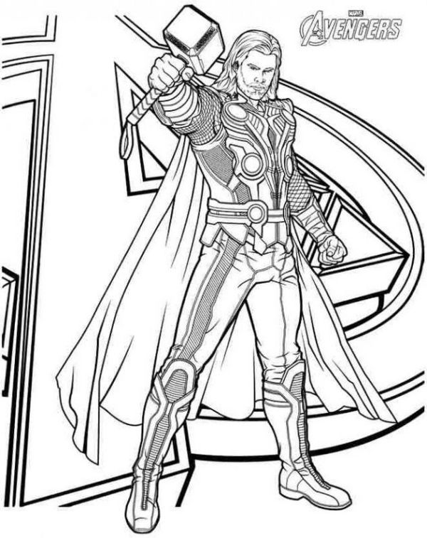 Free Thor Coloring Pages Collection Avengers Coloring Pages