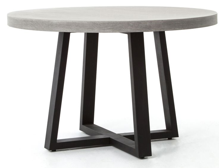 Outdoor Dining Table, Concrete Round Dining Table Outdoor