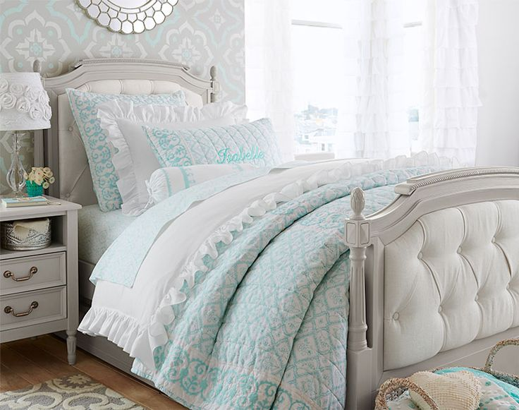 A girls' room with sophisticated, old-world elegance   Pottery Barn Kids