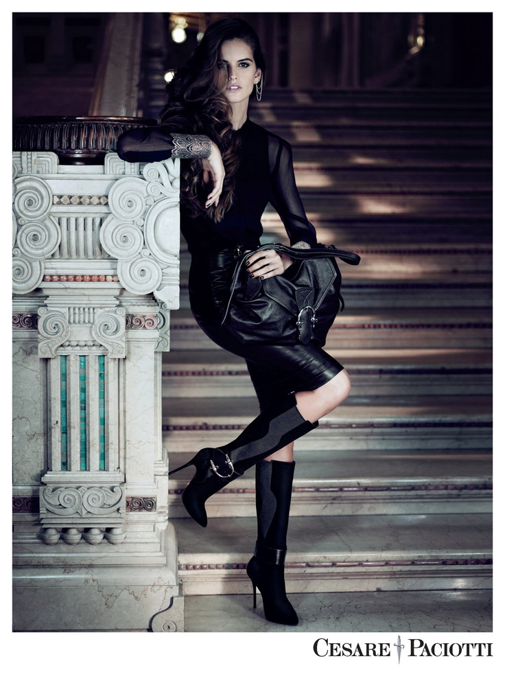 Elena Kougianou Oxydized Lace Cuff Featured at Cesarre Paciotti Fall'12 Campaign