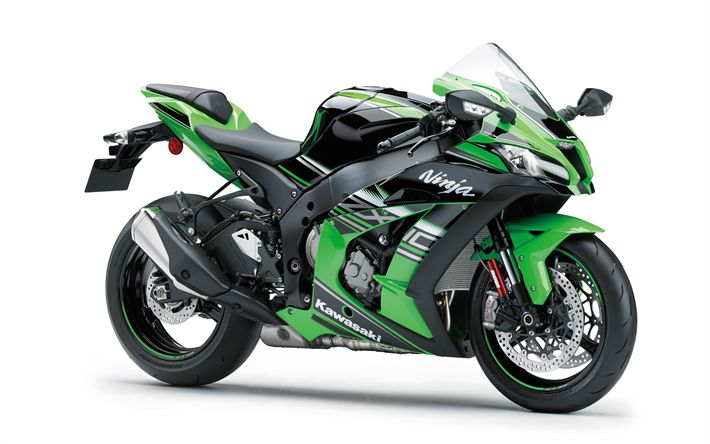 Download wallpapers Kawasaki Ninja ZX-10R, 2017, Sports motorcycle, racing motorcycles, Japanese motorcycles, Kawasaki
